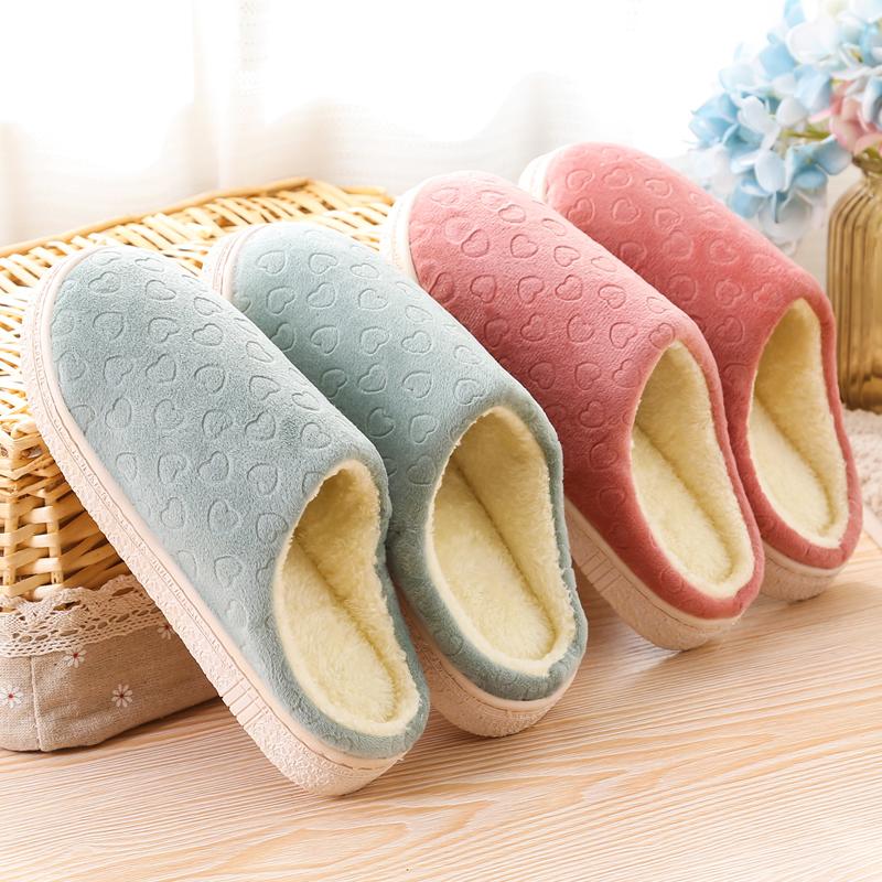 棉拖鞋女跟情侣厚底冬季月子居家居保暖室内防滑毛毛拖鞋男冬天