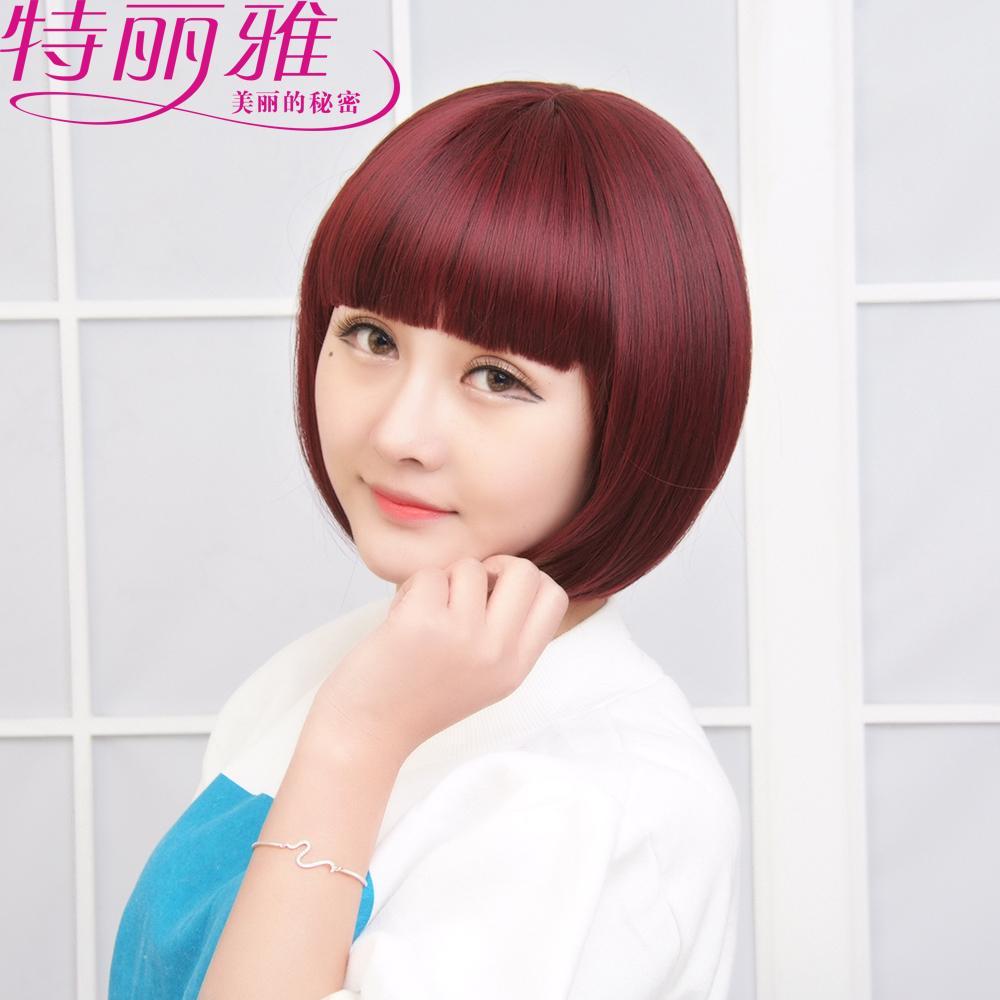 圆脸[发型]发型正品图片2015女v圆脸发型裁剪的短发图辛芷蕾适合图片