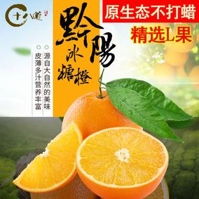 十八道 湖南黔阳冰糖橙 袖珍不打蜡甜橙新鲜水果橙子10斤60mm包邮
