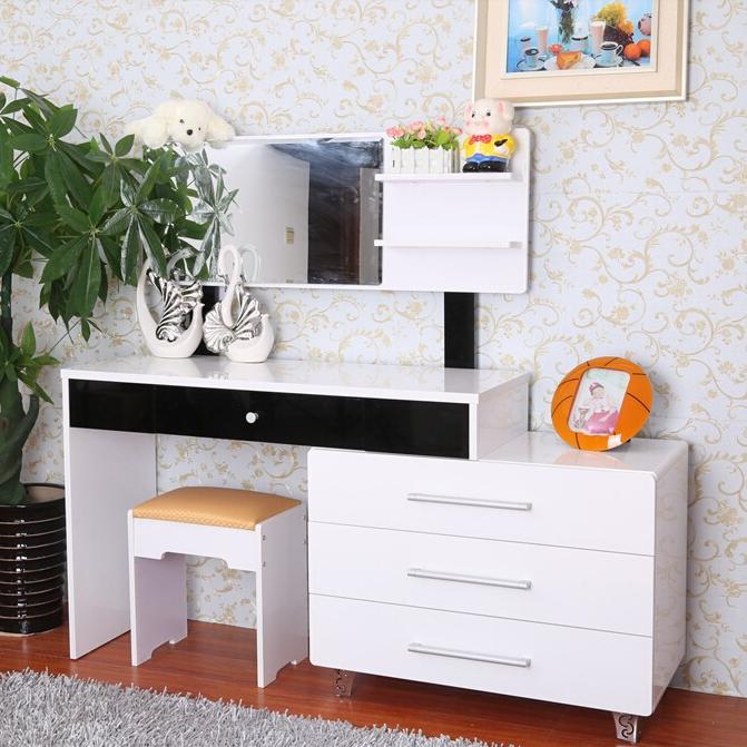 欧式梳妆台卧室小户型化妆桌现代简约化妆柜简易宜家