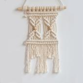 壁毯 壁挂 现货 那一挂手工编织挂毯 墙饰 绳编 麻将