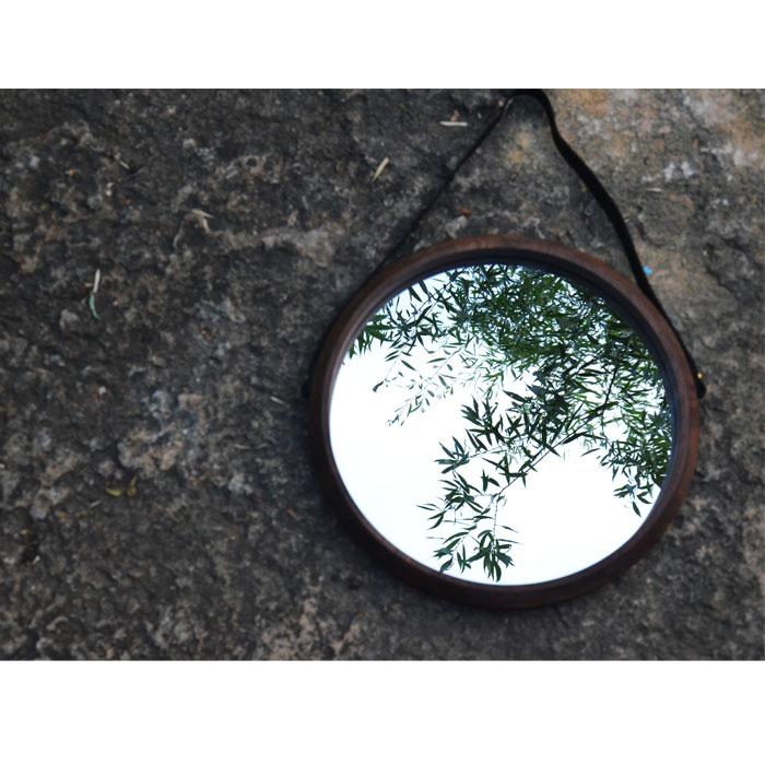欧式铁艺圆挂镜圆形镜化妆镜浴室镜穿衣镜圆镜试衣镜