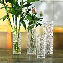 水培富贵竹花瓶客厅花器玻璃瓶插花瓶欧式特大加厚圆柱透明摆件