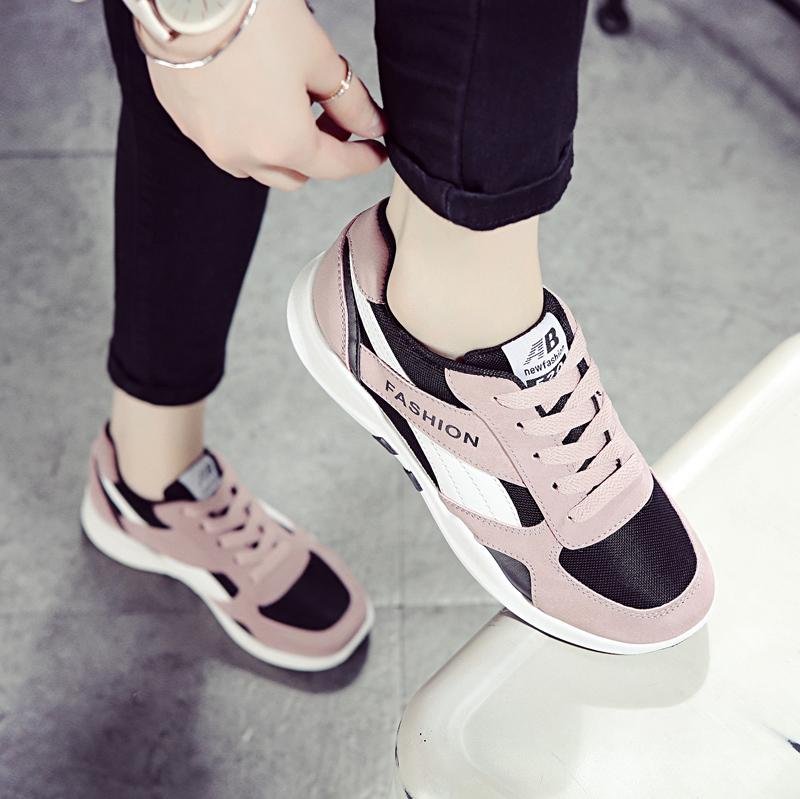 2017秋冬季新款加绒运动鞋女韩版学生百搭保暖休闲跑步鞋棉鞋女鞋