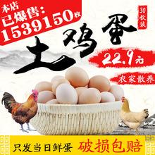 破损包赔!农家散养土鸡蛋新鲜草鸡蛋正宗自养柴鸡蛋30农村笨鸡蛋