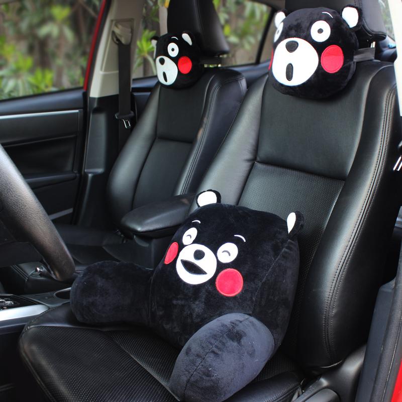 可爱卡通汽车头枕车载坐垫护颈枕枕车用座椅靠枕腰枕腰靠四季通用