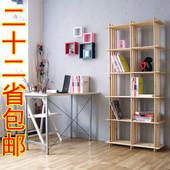 10格架置物层架储物架书架书柜实木花架简易鞋架货架