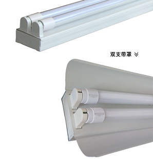 高亮led支架灯全套t8日光灯改造 单支双管带罩灯管支架1.2米工厂