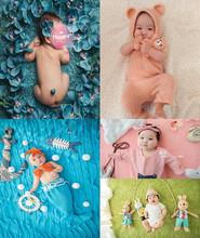 百天宝宝摄影服装出租 满月百日照摄影道具 新款儿童拍照创意背景