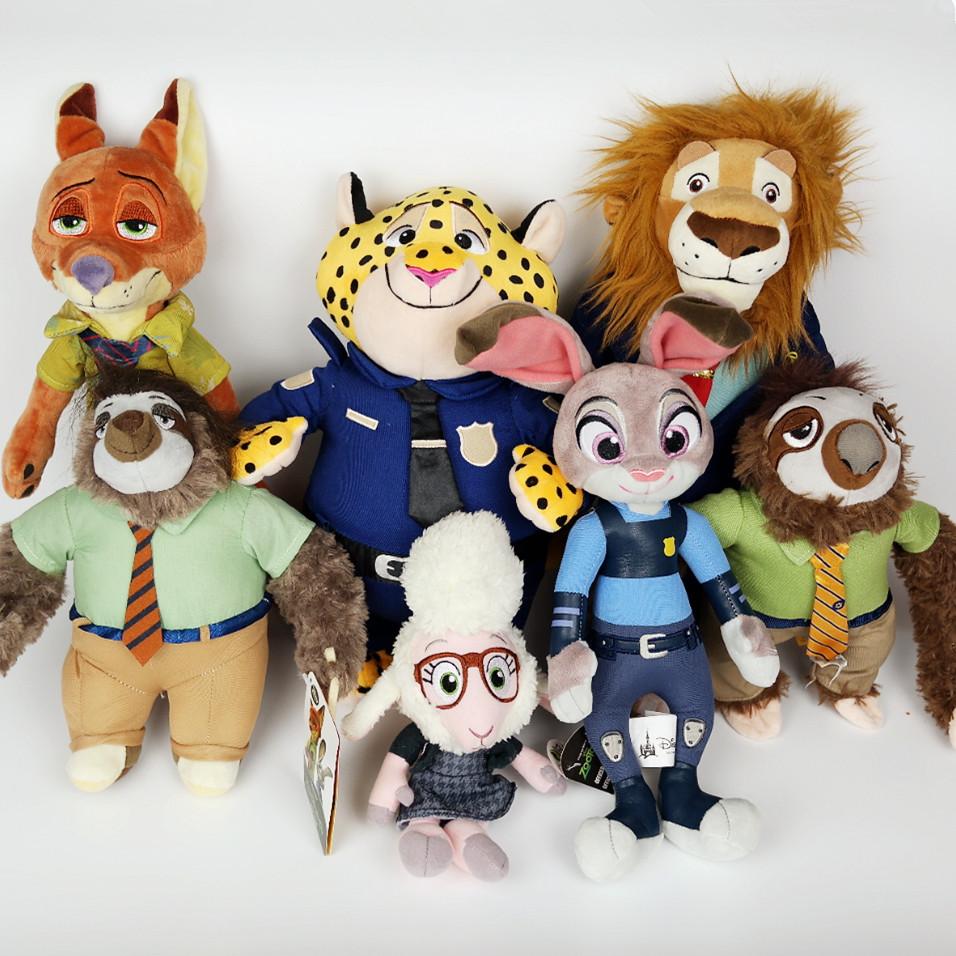 迪士尼疯狂动物城公仔玩具兔子朱迪狐狸尼克闪电树懒