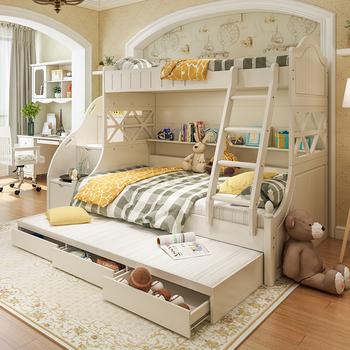 子母床高低床实木床成人母子床儿