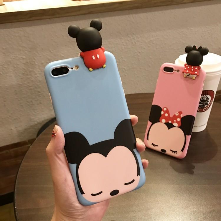 可爱萌卡通趴趴米奇iphone7手机壳苹果6s plus全包软硅胶保护套女