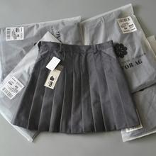包邮正版高腰百搭学院风高品质西装料TB风百褶裙A字裙半身裙短裙