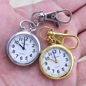 老人清晰大数字男士怀表钥匙扣挂表学生考试用石英防水手表护士表