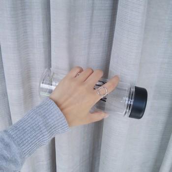 极简风 简约帅气圆环几何圆形三角圆圈造型感戒指 时髦指环J047