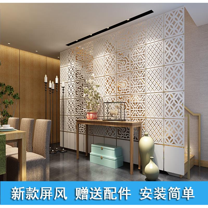时尚简约现代客厅卧室玄关隔断屏风镂空雕花折屏欧式
