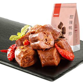 【天猫超市】良品铺子甜辣鸭脖190g真空小包装零食小吃卤味熟食