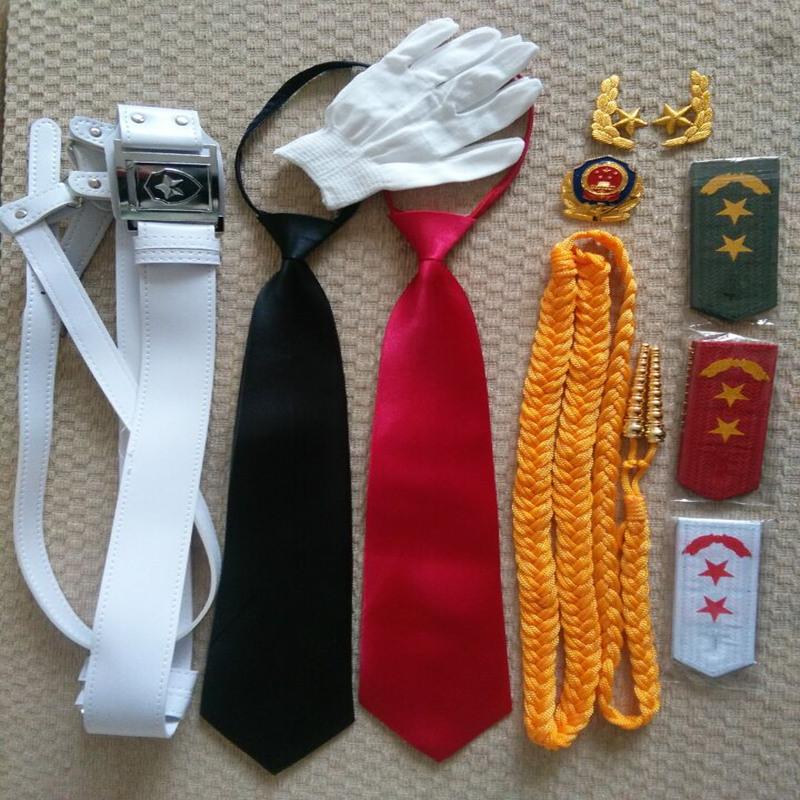 军装礼服配件绶带精神带保安绶带黄色肩章 臂章 胸牌领花帽徽腰带