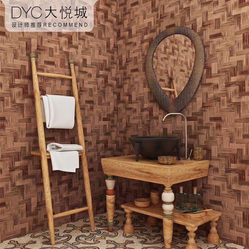 3d中式复古仿草编竹编纹墙纸草席竹席竹子传统古典民族风素色壁纸