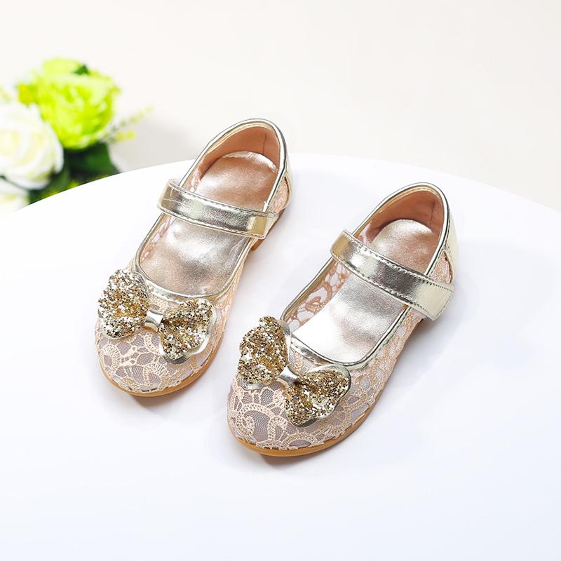 女童网鞋透气夏季2017新款儿童运动鞋水钻公主鞋女童单鞋网眼漂亮