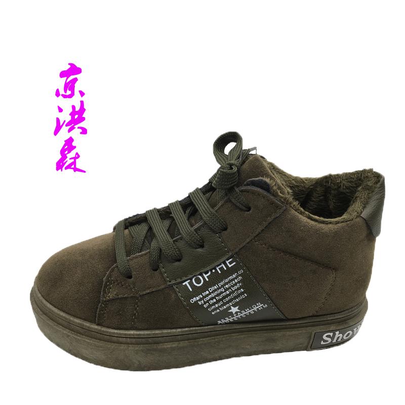 冬季雪地靴女鞋子可爱时尚学生保暖棉鞋短筒加绒厚潮短靴平底经典