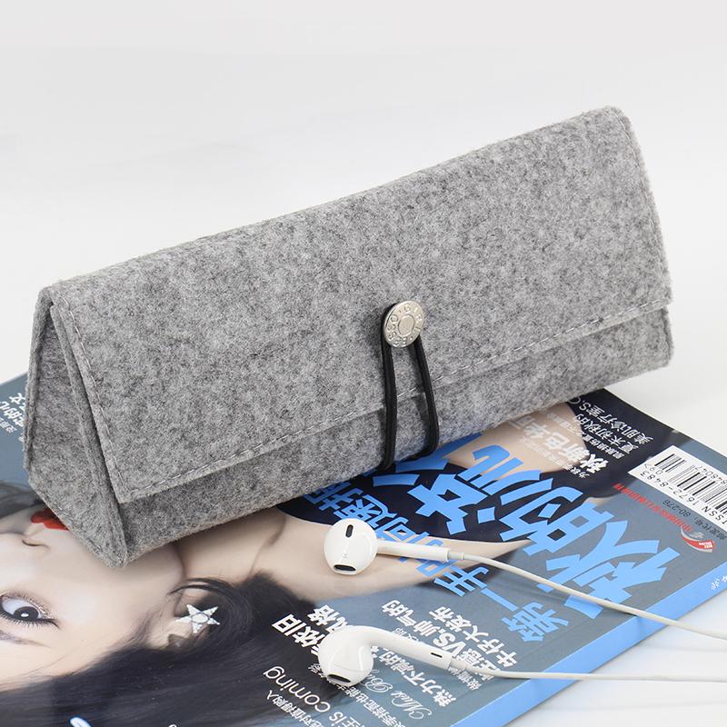 清新铅笔创意文具盒容量 韩国学生可爱简约毛毡