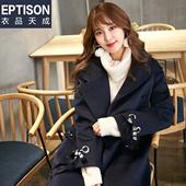 【买2送1】毛呢外套女韩版学生呢子大衣韩国中长款ulzzag秋冬款冬