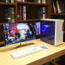 24寸曲面/i5四核电脑主机组装台式游戏办公DIY整机i7全套LOL网吧