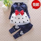 婴儿衣服夏季纯棉大嘴猴背心套装3四6七9月男童女宝宝春装0-1-2岁
