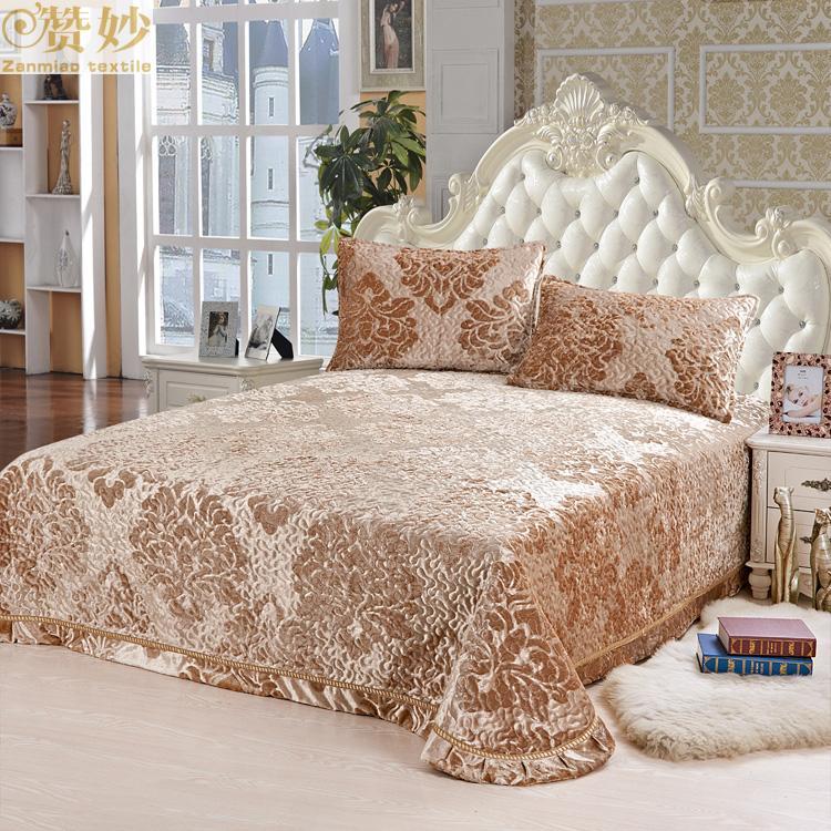 欧式床罩加厚床单