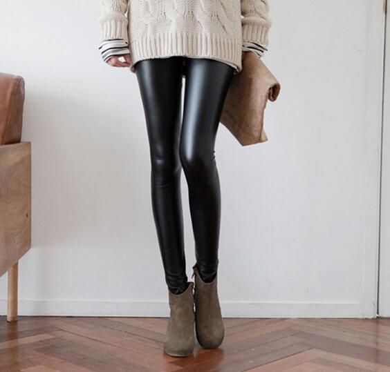 超潮显瘦皮裤女铅笔裤