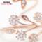 纯银食指戒指女饰品个性创意大气潮流日韩装饰指环潮人花朵开口