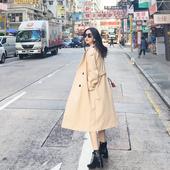 冬装宽松中长款毛呢大衣气质显瘦茧型超长过膝加厚风衣毛呢外套女