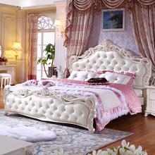 欧式床法式田园床大床韩式床公主床婚床双人床高箱储物成套1.8米