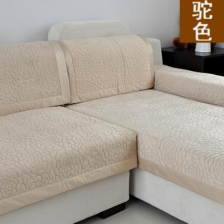 简约现代冬季加厚短毛绒沙发垫布艺坐垫纯色实木皮沙发套巾罩防滑