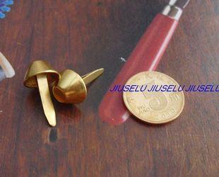箱包配件脚钉皮具五金黄金色1.2厘米2爪水桶钉泡钉脚钉1元/5个