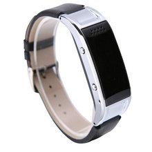 新款智能蓝牙LED手表接听电话学生信运动情侣皮带手环男女电子表