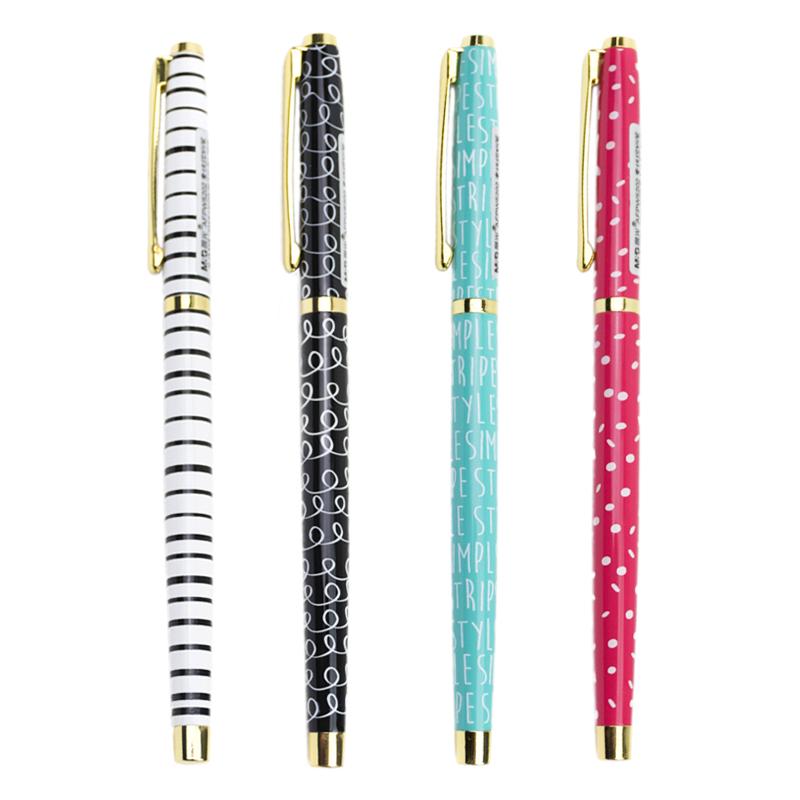 包头钢笔学生练字 抽吸钢笔 素纹控晨光文具钢笔清新