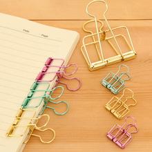 安安家 创意彩色金属大号长尾夹 燕尾夹 办公学习支票夹试卷夹子