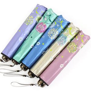 天堂伞正品黑胶超强防晒防紫外线太阳伞 超轻超细晴雨铅笔伞