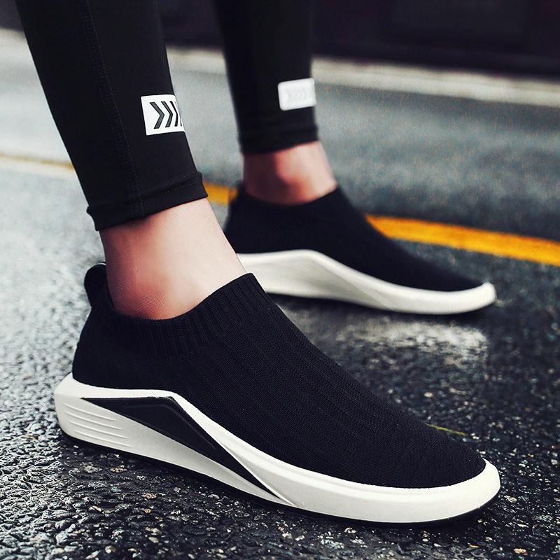 夏季帆布鞋男韩版透气男鞋子一脚蹬袜子鞋懒人鞋男士休闲潮鞋布鞋