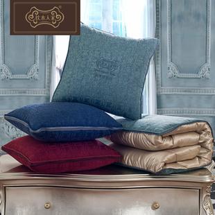 枕水人家多功能靠垫被子抱枕午睡枕头汽车多用大号空调被靠枕毯子