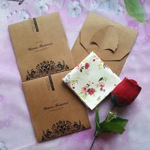 全棉手帕 单条单支纸袋 2条起 女士纯棉手绢 包邮
