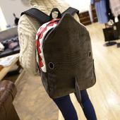 2016新款个性创意磨砂皮海豚书包女双肩包男大容量旅行背包电脑包