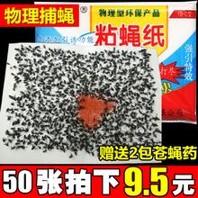 苍蝇贴粘蝇纸粘飞蚊虫板驱捕蝇器强力沾黏苍蝇胶笼灭苍蝇药条家用