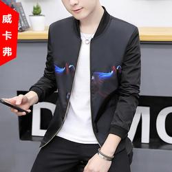 春季新款潮男装夹克男士青少年休闲碎花衣服修身薄款上衣韩版外套