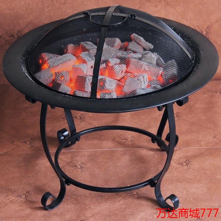 新品室内室外取暖器实木炭烤火炉桌火盆烧烤架炉生活电器野炊现货