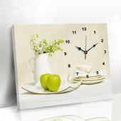 欧式简约电表箱壁画单幅无框画挂钟 饰画 现代客厅餐厅装 美斯凯