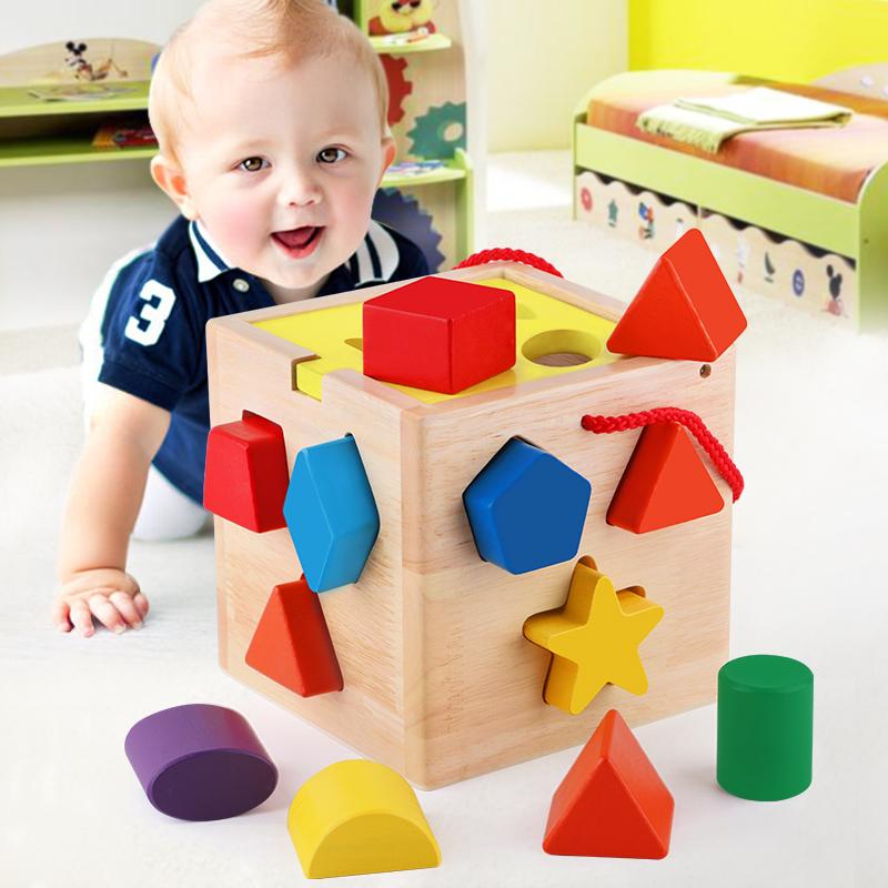 积木周岁玩具儿童小孩益智女孩宝宝男孩木制拼装婴儿