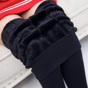 加绒加厚打底裤女士女裤显瘦紧身黑色小脚高腰保暖长裤秋冬季外穿